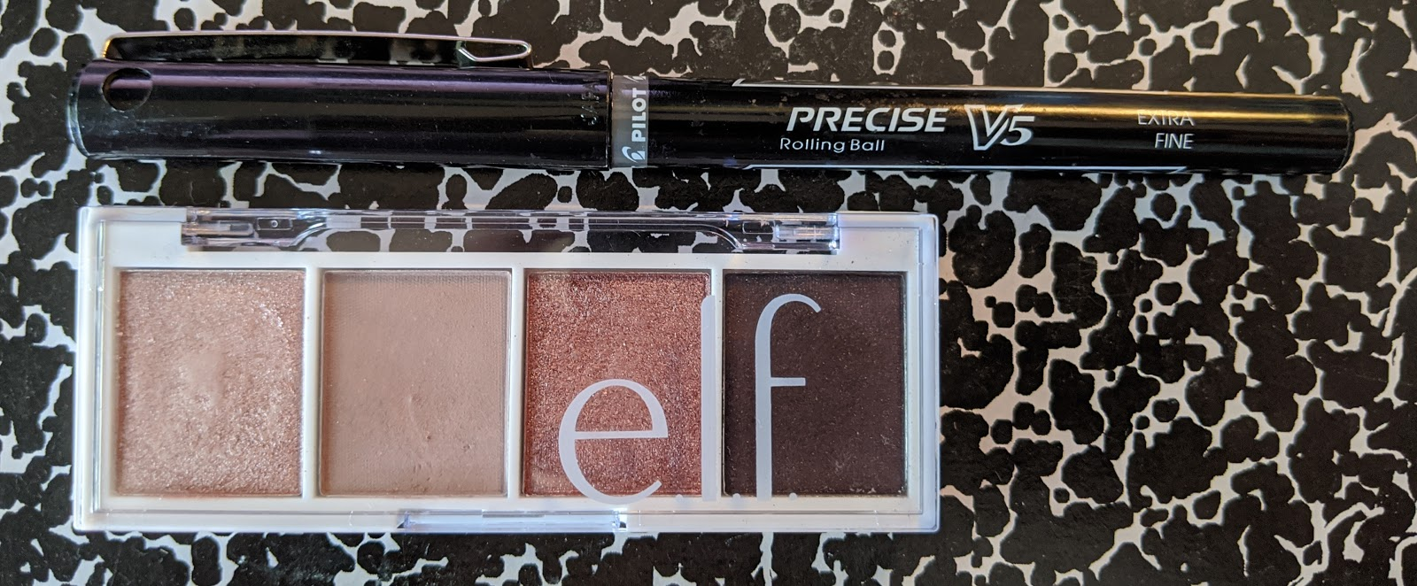e.l.f. palette size comparison with pen